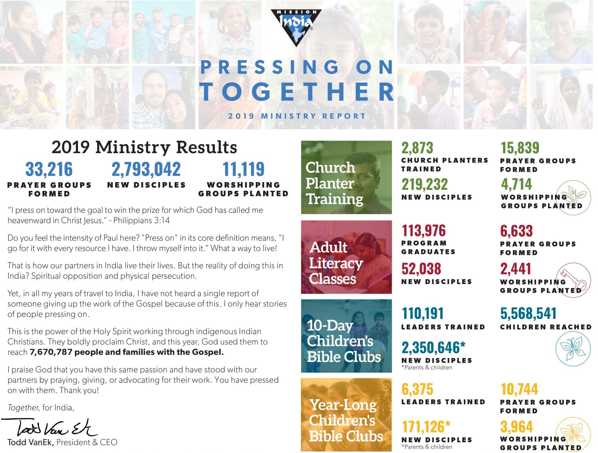2019 Ministry Report